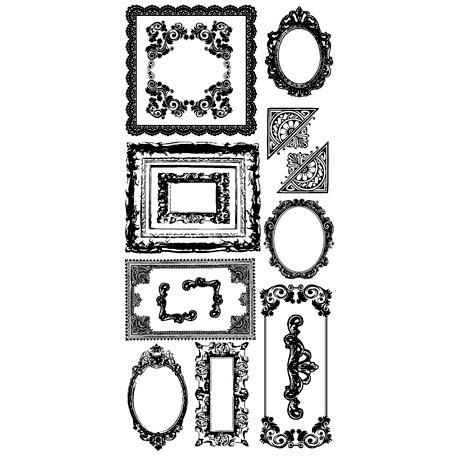 Kaisercraft - Timeless Collection - Rub Ons - Frames