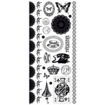 Kaisercraft - Miss Match Collection - Rub Ons - Black
