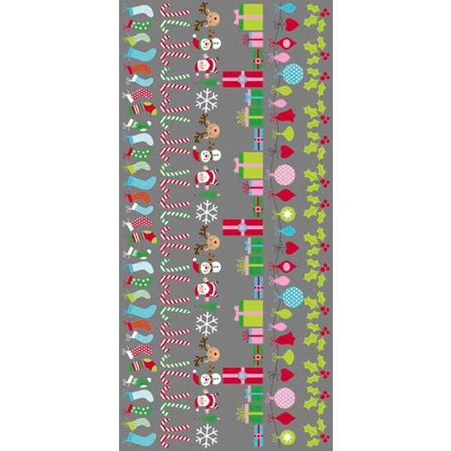 Kaisercraft - Mint Twist Collection - Christmas - Rub Ons - Borders