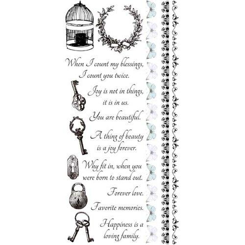 Kaisercraft - True Romance Collection - Rub Ons