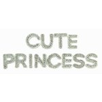 Kaisercraft - Sparklets - Words - Princess and Cute