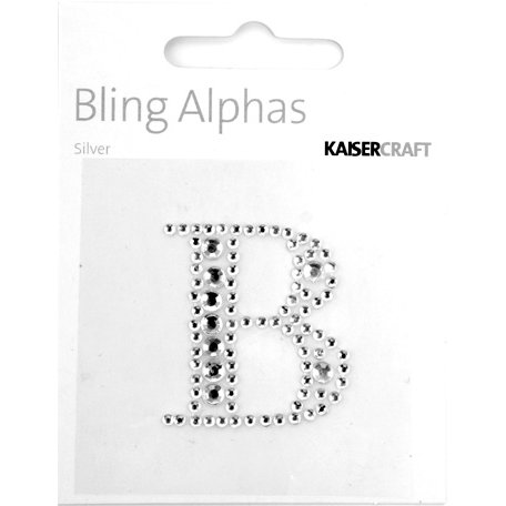 Kaisercraft - Bling Alphas Collection - Self Adhesive Monogram - Letter B