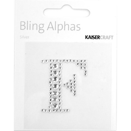 Kaisercraft - Bling Alphas Collection - Self Adhesive Monogram - Letter F