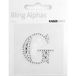 Kaisercraft - Bling Alphas Collection - Self Adhesive Monogram - Letter G