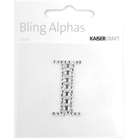 Kaisercraft - Bling Alphas Collection - Self Adhesive Monogram - Letter I