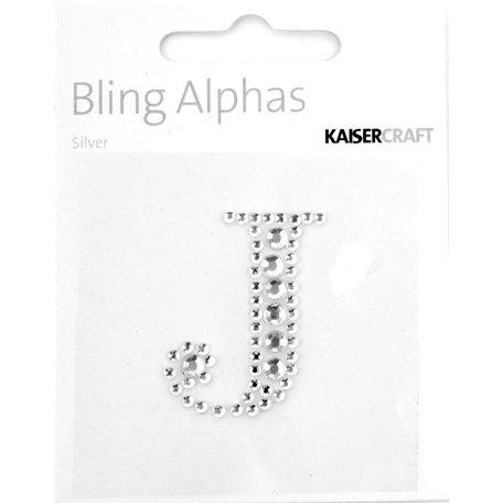 Kaisercraft - Bling Alphas Collection - Self Adhesive Monogram - Letter J