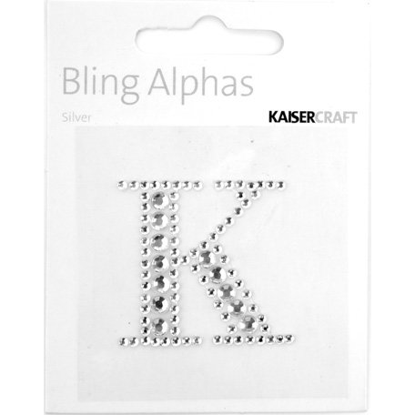 Kaisercraft - Bling Alphas Collection - Self Adhesive Monogram - Letter K