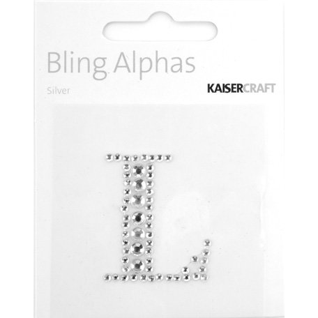 Kaisercraft - Bling Alphas Collection - Self Adhesive Monogram - Letter L