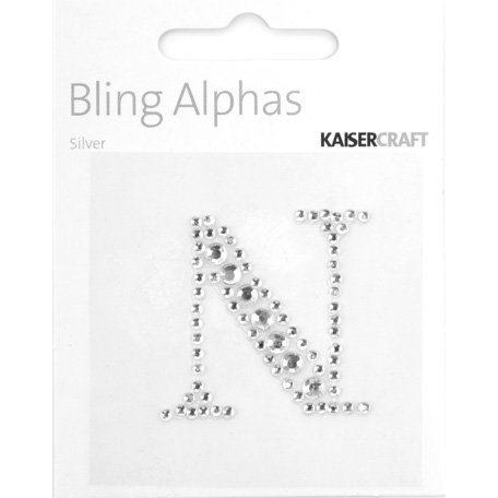 Kaisercraft - Bling Alphas Collection - Self Adhesive Monogram - Letter N