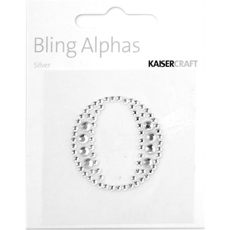 Kaisercraft - Bling Alphas Collection - Self Adhesive Monogram - Letter O