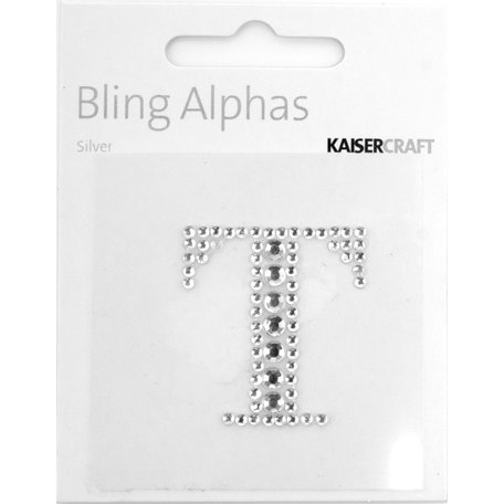 Kaisercraft - Bling Alphas Collection - Self Adhesive Monogram - Letter T