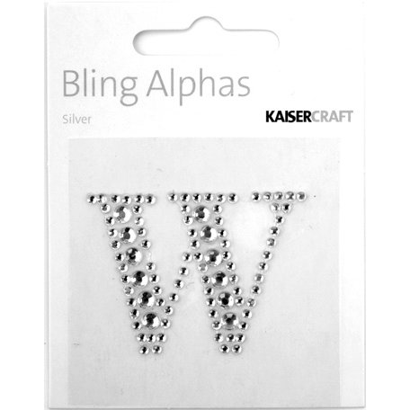 Kaisercraft - Bling Alphas Collection - Self Adhesive Monogram - Letter W