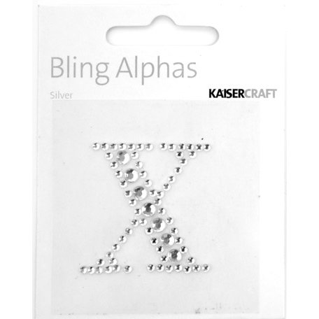 Kaisercraft - Bling Alphas Collection - Self Adhesive Monogram - Letter X