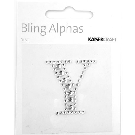 Kaisercraft - Bling Alphas Collection - Self Adhesive Monogram - Letter Y