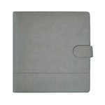 Kaisercraft - Planner - Grey Leather with Stitched Accents