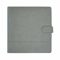 Kaisercraft - Planner - Grey Leather with Stitched Accents - Undated