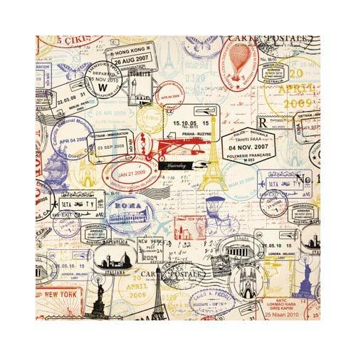 Kaisercraft - Postmarks Collection - 12 x 12 Scrapbook Album