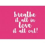 Kaisercraft - 12 x 12 D-Ring Album - Quote - Hot Pink