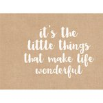 Kaisercraft - 12 x 12 D-Ring Album - Quote - Hessian