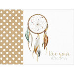 Kaisercraft - Boho Dreams Collection - 12 x 12 D-Ring Album - Dreamcatcher