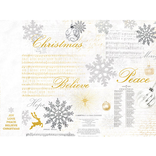 Kaisercraft - Glisten Collection - Christmas - 12 x 12 D-Ring Album