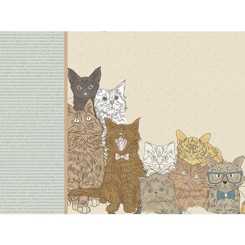 Kaisercraft - Pawfect Collection - 12 x 12 D-Ring Album - Cat