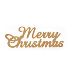 Kaisercraft - Beyond the Page Collection - Script Wood Phrase - Merry Christmas