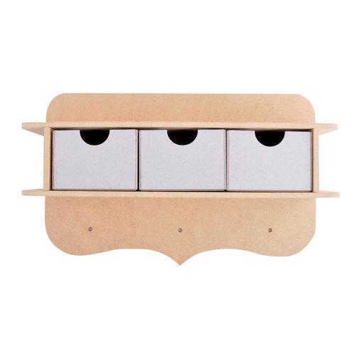 Kaisercraft - Beyond the Page Collection - 3 Drawer Peg Shelf
