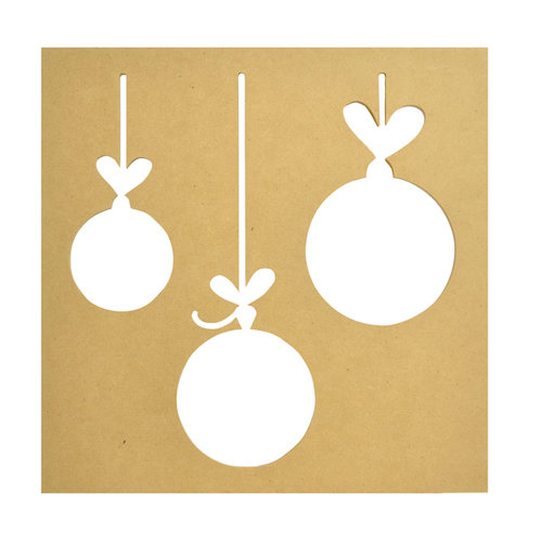Kaisercraft - Beyond the Page Collection - Baubles Silhouette Wall Art