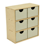 Kaisercraft - Beyond the Page Collection - 6 Drawer Tall Unit