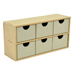 Kaisercraft - Beyond the Page Collection - 6 Drawer Wide Unit