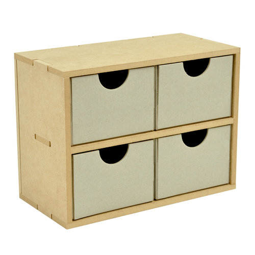 Kaisercraft - Beyond the Page Collection - 4 Square Drawers