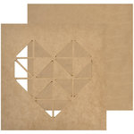 Kaisercraft - Beyond the Page Collection - Wall Art - Geo Heart