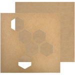 Kaisercraft - Beyond the Page Collection - Wall Art - Geo Hex