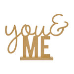 Kaisercraft - Beyond the Page Collection - Standing Word - You and Me