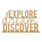 Kaisercraft - Beyond the Page Collection - Standing Word - Explore, Dream, Discover