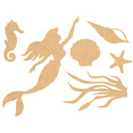 Kaisercraft - Beyond the Page Collection - Wall Art - Mermaid Pack