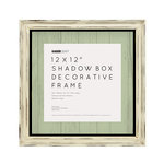 Kaisercraft - Distressed Shadow Box Frame - 12 x 12 - Antique White