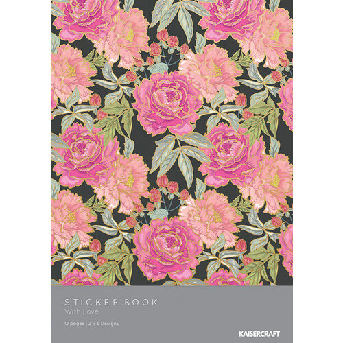 Kaisercraft - With Love Collection - Sticker Book with Foil Accents