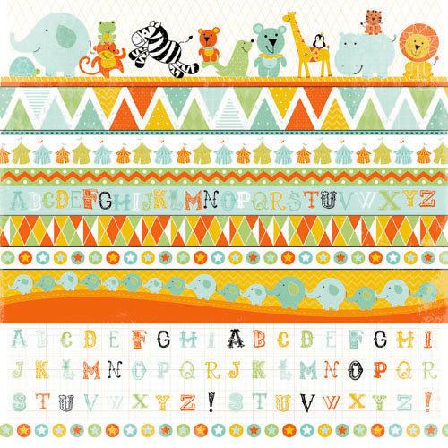 Kaisercraft - Party Animals Collection - 12 x 12 Sticker Sheet