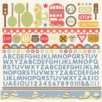 Kaisercraft - Little Toot Collection - 12 x 12 Sticker Sheet