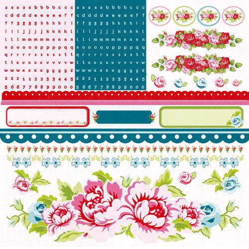 Kaisercraft - Miss Nelly Collection - 12 x 12 Sticker Sheet