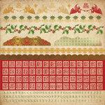 Kaisercraft - December 25th Collection - Christmas - 12 x 12 Sticker Sheet - Alphabet