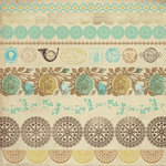 Kaisercraft - Madame Boutique Collection - 12 x 12 Sticker Sheet - Antiques