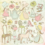 Kaisercraft - Lil' Primrose Collection - 12 x 12 Sticker Sheet - Princess
