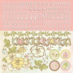 Kaisercraft - Lil' Primrose Collection - 12 x 12 Sticker Sheet - Diva