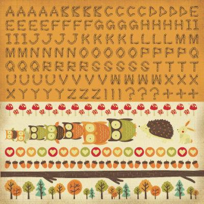 Kaisercraft - Tiny Woods Collection - 12 x 12 Sticker Sheet