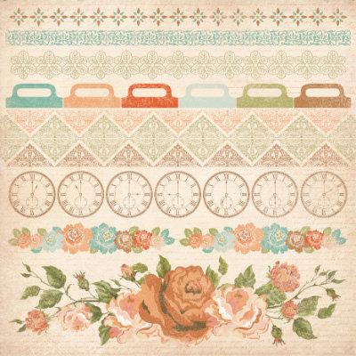 Kaisercraft - These Days Collection - 12 x 12 Sticker Sheet