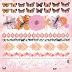 Kaisercraft - Tigerlilly Collection - 12 x 12 Sticker Sheet