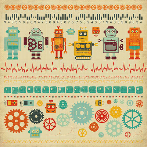 Kaisercraft - Technologic Collection - 12 x 12 Sticker Sheet - ESC